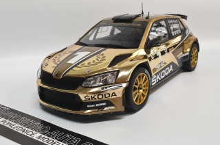 Škoda Fabia R5 Gold Edition 1:18