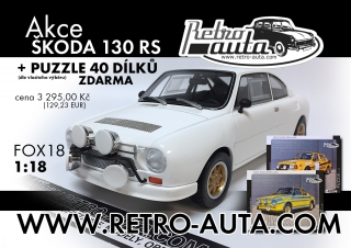 Škoda 130 RS Plain Body Version 1:18 + Akce puzzle