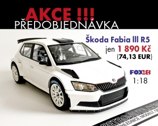 Škoda Fabia R5 Plain Body - 1:18